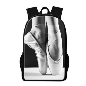 Dancing Pattern Designer-Cute Shoe Lightweight Backpack Girl Teenagers Trendy Kids Bookbag Ballet for Rucksack Print Personalized Schoo Tdij