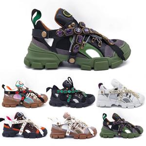 Новые кристаллы FlashTrek Sneaker Съемные Casual Luxury Mens женщин Дизайнерская обувь кроссовки 35-45
