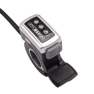 36V Elektrikli Bisiklet Gidon Hız Kontrolü Pil Kapasitesi Görüntü Thumb Gaz Sol / e-Bisiklet Elektrikli Bisiklet için Doğru Sap