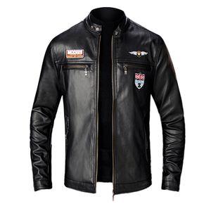 KANCOOLD 2019 NUEVO para hombre Otoño Invierno Hombre chaqueta de cuero de la motocicleta del motorista soporte collar abrigos chaquetas de cuero de 824 Jaqueta