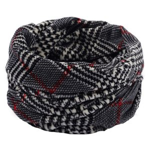 Soft Knitted Scarves Neck Warmer Winter Outdoor Sport Windproof Thermal Loop Scarf Thick Infinity Scarf