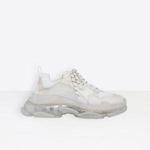 2019 модная дизайнерская повседневная обувь Мужская и женская повседневная обувь на воздушной подушке, прозрачная подошва Luxury Designer Shoes 35-45