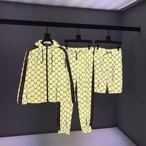 2020 이탈리아어 봄과 가을 패션 전신 반사 편지 쓰기 인쇄 정장 남성 디자이너 고품질의 느슨한 캐주얼면 방풍