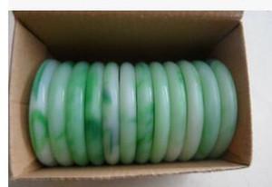 Лот Ювелирные изделия нефрита зеленый драгоценный камень Старинные браслеты браслет шарм
