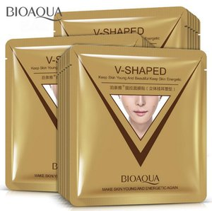Bioaqua V en forma de lazo del oído del estilo Máscara facial 3d V -Line Lifting Reafirmante Mascarilla Apriete Chin mejilla reducir la hinchazón libre de DHL