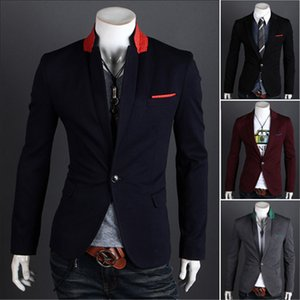 Mens Fashion Designer Suits Spring Slim One Button Jacket Mens Blazers Males New Fashion Casual Clothing