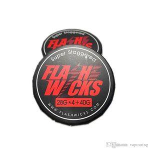 Flashwicks Aquecimento Wires resistência do fio Super Staggered Low Resistance Para DIY RDA RBA Atomizador Bobinas 100% Authentic 1
