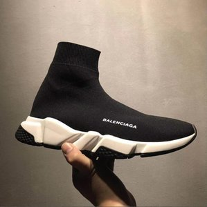 High Quality Luxury Speed Trainer Shoes Unisex Running Shoes Speed Trainer stretch-knit Mid sneakers Men and Women Brand Slip-on Socks Boots