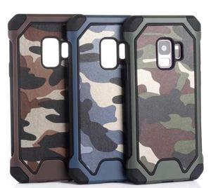 Camouflage Army Armor Hybrid Case für Galaxy A9 STAR LITE J7 (J4 J6 A6 Plus) 2018 2 in 1 Militär Hard PC + Weiche TPU-Luxus-Telefonabdeckung