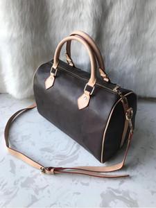 Caliente venta de las mujeres del bolso del mensajero de estilo clásico de la moda del bolso mujeres de los bolsos de hombro bolsos de las bolsas Señora totalizadores Speedy 30 cm Bolsa de polvo + Bloquear 88688