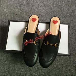 Gucci slippers Nouveau luxe Été Lapel dentelle velours Chaussons Hococal Chaussons Boucle cuir abeille serpent Motif de femmes Taille 35-42