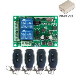 10pcs 433Mhz Universal-drahtloser Fernsteuerungsschalter AC 250V 110V 220V 2CH Relais-Empfänger-Modul und 4PCS RF