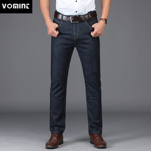 VOMINT Nuovi Jeans da uomo Stile business design Elastico Smart Casual Regular Straight Jeans lunghi MS1802