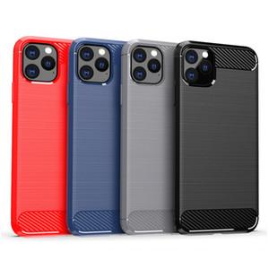 Fall für iPhone 11 PRO MAX XR XS Galaxy Note 10 S10 PLUS S9 Schutz Carbon-Faser-Handy Taschen mit OPP Beutel