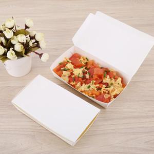 Comida para llevar la caja de herramientas de Eco-alimentos caja de papel desechable empaquetado grande Capacidad vajilla espesado degradable box lunch 100pcs / pack