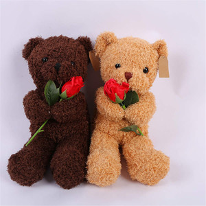 New Rose Teddy Bear abbraccio peluche Teddy Bear creativo Girlfriend Valentine Gift Doll spedizione gratuita