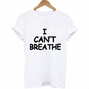 "Mens Luxury T-shirts ""I CANT BREATHE"" Print Designer Brand Tops Womens Solid Color T-shirts 2020 New Arrival Men Outdoorwear Summer Clothing"