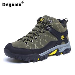 Dagnino Kış Sıcak Kürk Kar Boots Erkekler Sneaker Sonbahar Kaymaz Kauçuk Sole Bilek Boots Su geçirmez ayakkabı ayakkabı Artı boyutu 39-45