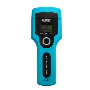 Madeira Digital Content Tester Timber Moisture Tester Smart Wood medidor de umidade 7 graus para diferentes Exibição madeiras LCD Todos Sun EM4808