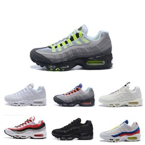Designer 95 Mens OG Running Shoes ouro 95s ar Bred Gym Laser Red Fuchsia Gradient maxes Branco Classic Blue Black Men Sports Sneakers