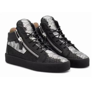 Hot Sale-итальянский дизайнер Лучшие Мужчины Женщины Zapatillas guiseppes натуральная кожа заклепки отдыха Повседневная обувь арене кроссовки