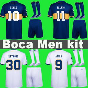 20 21 hombres Boca Juniors fútbol Jersey kit hogar lejos TEVEZ MARADONA MOURA ABILA DE ROSSI JRS camiseta de fútbol de deportes con uniformes cortos