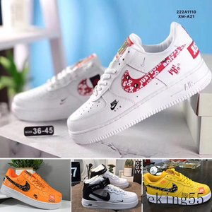 off New Arrival Forces Mens Womens 1 Skateboarding Shoes one White Black Fashion Casual Running Sports Sneakers W-CH2