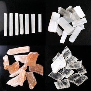 30g 50g 100g Natural White Selenite Rough Sticks Mineral Specimen Healing Crystal Wand Irregular Shape Pendant Making Stone