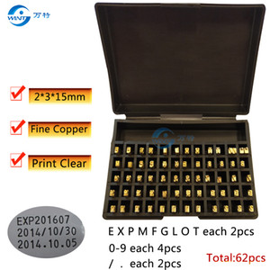 Free shipping 2*3*15mm letter alphabet font for HP-241B DY-8 date coding machine,Fine copper letters date typewriter metal numbers,
