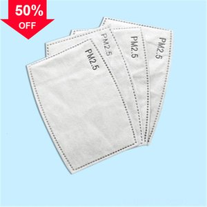 k1m9i FaGasket designer luxury face Mats Replacement Pad Wholesale Gasket Four-Layer pm2.5 activate carbon filter for mask Waterproof B
