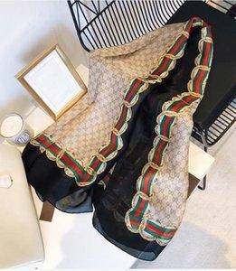 여성 인기 브랜드 여성 문자 인쇄 숄 스카프 파시미나 패션 긴 고리 크리스마스 선물 수송선 A170을위한 디자이너의 실크 스카프