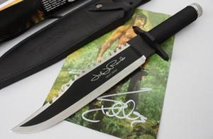 2020 Rambo First Blood 2 II Signature Autograph Bowie EDITION licence SURVIE Couteau de chasse Couteau d'extérieur