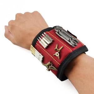 Polyester Starke magnetische Armband Portable Werkzeugtasche Elektriker Handgelenk Werkzeug Gürtel Schrauben Nägel Bohrer Halter Reparatur Werkzeuge