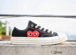 Converse All Star 1970 COMME DES GARCONS PLAY 2020 clásico 1970 benevolencia Big Eyes Zapatos casuales 1970 zapatos de lona Joker Campus Joker de goma