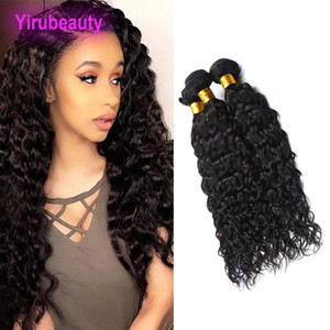 Indian Mink Cheveux Vierge en gros 3 Bundles Vague Couleur naturelle indienne Raw humaine Bundles cheveux Extensions Yiruhair Wet onduleux 8-28inch