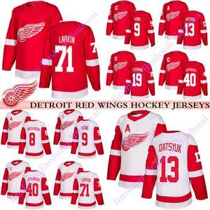 Detroit Red Wings Jersey 19 Steve Yzerman 13 Pavel Datsyuk 40 Henrik Zetterberg8 Justin Abdelkader 71 Larkin 9 Gordie Howe hokey formaları