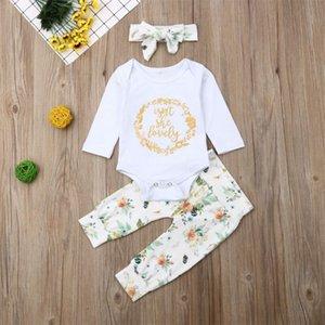 Pudcoco du nouveau-né bébé bébé Lovely Vêtements Romper Hauts Pantalons Floral Set Outfit Vêtements bébé