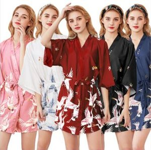 womens Solid rayon silk Robe Ladies Satin Pajama Lingerie Sleepwear Kimono Bath Gown pjs Nightgown 17 colors
