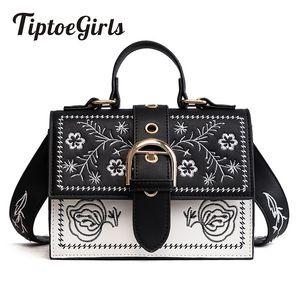 Tiptoegirls Модные женские сумки Небольшие женские сумки на плечо с вышивкой Маленькие сумки-мессенджеры с клапанами Женские сумки Dropshipping J190613