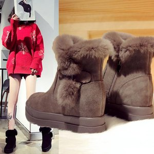 2019 Women Winter Warm Boots Antiskid Outsole Lady Snow Boots Shiny Brand Fashion Style Easy Wear Hairy Ankle Boots