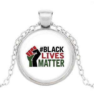 2020 Destek Siyah Hayatlar Matter Rozet Pendnat Alaşım Protesto Birleşik Devletleri Kolye deyimi Takı DIY Kolye