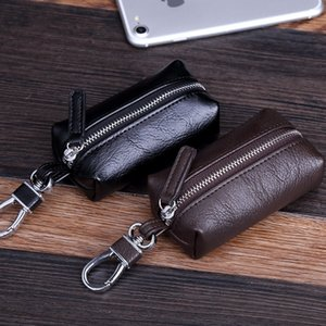 Car men's business PU key case Small key case leather mini bag coin purse small bag
