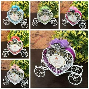 100pcs Iron Romantic Pumpkin Carriage Wedding Candy Box Wedding Favor Gifts Baby Shower Wedding Decoration RRA2738