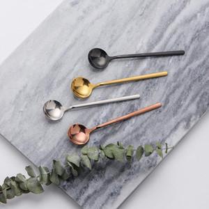 Spoon Café en acier inoxydable Mini Cuillère à dessert crème glacée cuillère Accessoires de cuisine Vaisselle Cuiller cuillère Remuer 4colors