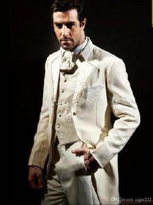 New Custom Made Elfenbein Bräutigam Smoking Groomsmen Best Man Anzug Mens Wedding Suits Bräutigam Anzug (Jacke + Pants + Weste + Tie) 71