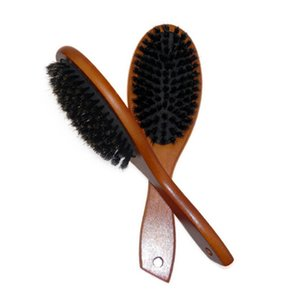 Doğal Domuz Kıl Saç Fırçası Masaj Tarak Anti-statik Saç Saç Derisi Paddle Fırça Kayın Ahşap Kulp Saç Fırçası Şekillendirme Aracı