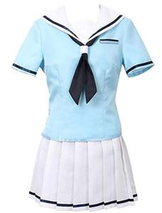 BanG Dream Toyama Kasumi Blue School Uniform Sailor Dress Set Cosplay Costume