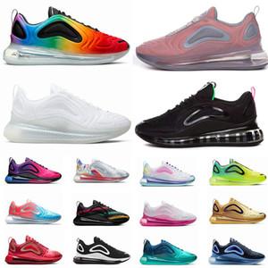 720 scarpe da corsa per le donne degli uomini dei metalli Platinum Northern Lights Rosa Mar Triple Black White SUNRISE uomini allenatore sportivo Sneakers