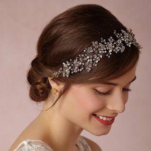 Shinny Crystal Wedding Wedding Head Piece Sposa Copricapo Fascia per capelli Fascia 100% Handmade Fiore Donna Accessori per gioielli da festa
