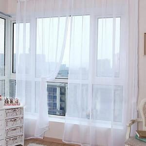 Umweltfreundlich 100 * 200cm Günstige Moderne Fenster-Vorhang-weißes Tüll Vorhänge Wohnzimmer Schlafzimmer Badezimmer Polyester Fenster-Bildschirm